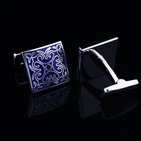 Blue Ornament Wedding Cufflinks - 4