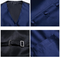 Blue vest for a suit with accessories - 4/5