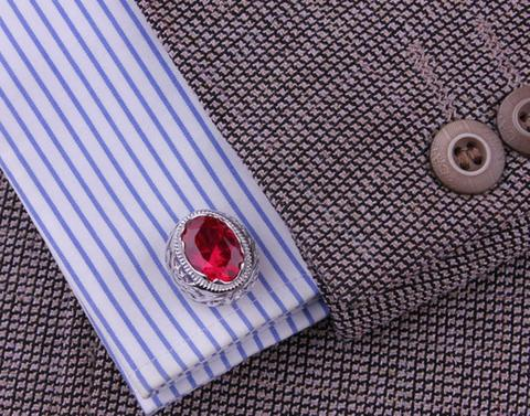Vintage Ruby Eye Cufflinks - 5