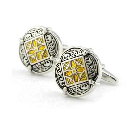 Wedding Gold Ornament Cufflinks - 5