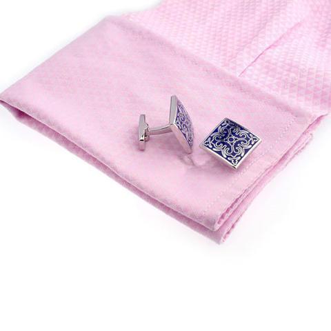 Blue Ornament Wedding Cufflinks - 5